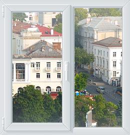 Духстфорчатое окно в Севастополе