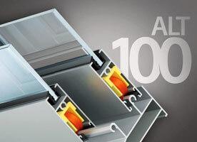 Система алюминиевого остекления балконов ALT 100 в Севастополе
