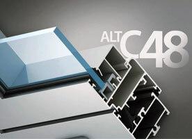Система алюминиевых окон без термоизоляции alt c48 в Севастополе