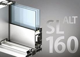 Система алюминиевых раздвижных окон alt sl160 в Севастополе