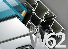 Система алюминиевых окон с термоизоляцией alt w62 в Севастополе