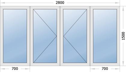 Классическое остекление балкона
