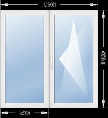 Типовое окно 1300х1400