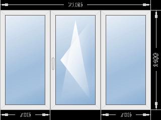 Типовое окно 2100х1400